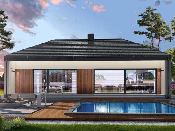 Nowy dom parterowy 103m2 w stanie deweloperskim (na sprzedaż) Koszalin